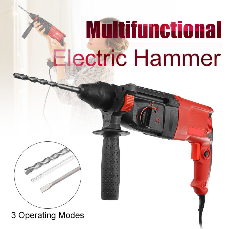 780W 220V 28mm 50Hz Impact Drill Electric Hammer Drill Breaker 3 Operating Modes Power Drill Woodworking Power Tool