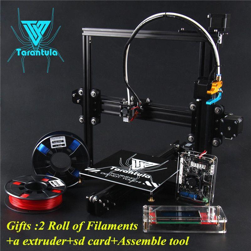 3D-принтеры Наборы tevo Тарантул i3 алюминиевого профиля 3D-принтеры комплект 2 xfilaments + экструдер + SD карта + собрать инструмента, как подарок