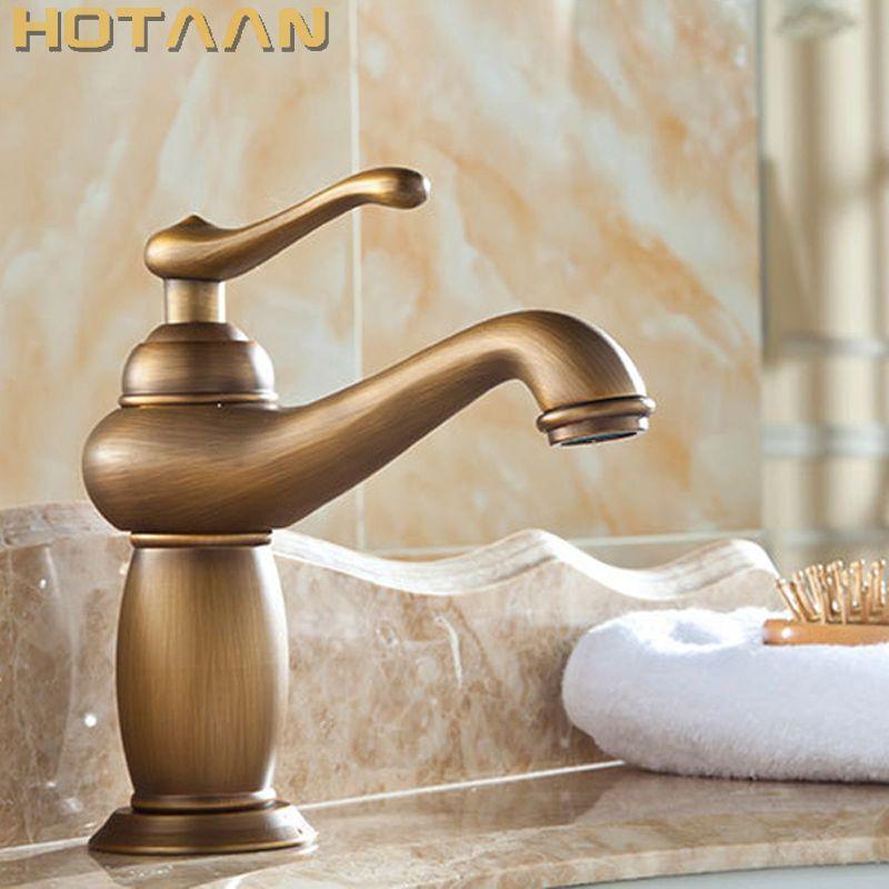 Bathroom Basin Faucet Antique <font><b>bronze</b></font> Brass Mixer solid copper Luxury Europe style Tap torneiras para banheiro crane YT-5061