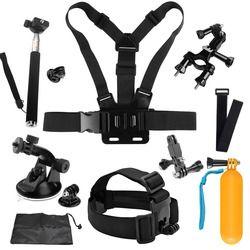 SHOOT for Go Pro Mount Accessories for GoPro Hero 5 6 4 SJCAM SJ4000 Xiaomi Yi 4K Eken H9 Monopod Bicycle Clamp Strap Mount Kits