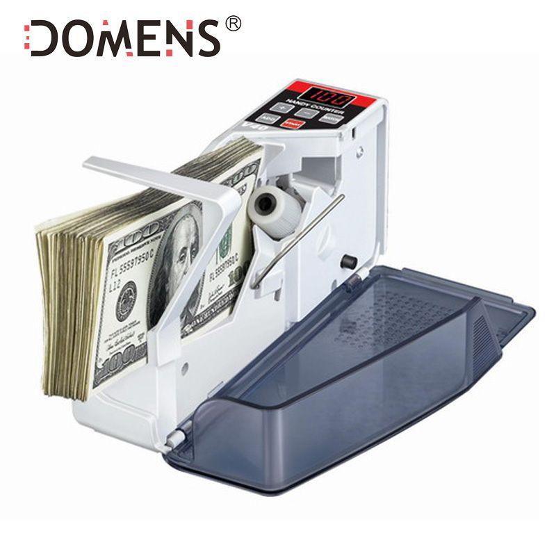 Mini compteur d'argent Portable pratique pour la plupart des billets de banque comptant comptant la Machine EU-V40 équipement financier en gros
