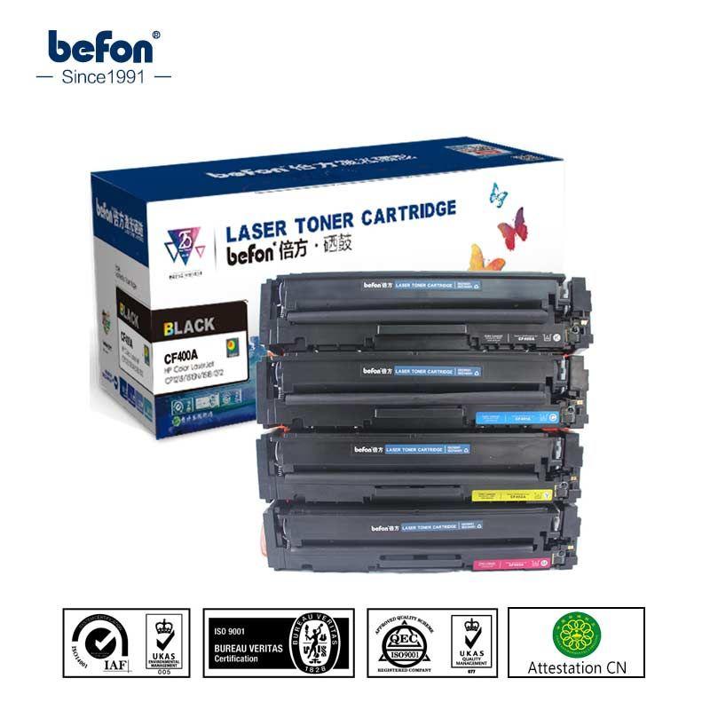 befon Color Toner Cartridge CF400A CF400 400 Replacement for HP201A HP201 HP 201 201a LaserJet Pro M252 252 M277n M277dw 274
