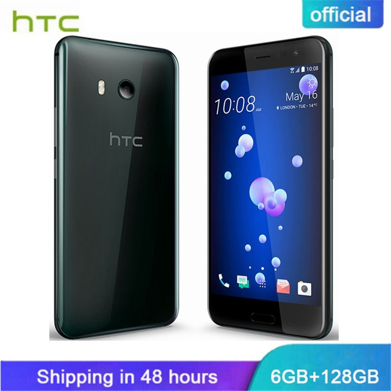 Official Original HTC U11 6GB RAM 128GB ROM Snapdragon 835 IP67 Waterproof Fingerprint  4G  LTE 5.5 inch 16.0 MP Mobile Phone