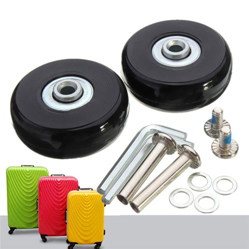 Osmond 50x18mm caoutchouc réparation bagages valise roues OD 50 1.97 pouces ID 6 W 18 essieux 35 ensemble de réparation Spinner roues remplacement