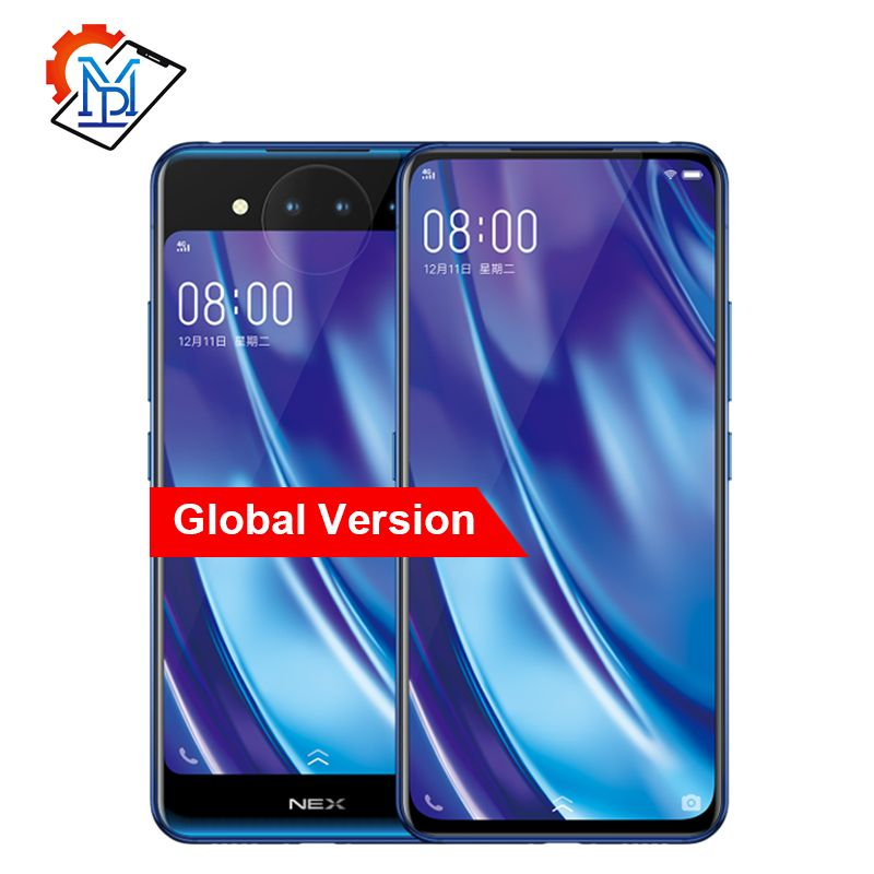 Globale Vivo NEX 2 Dual Display Handy 6,39 10G RAM 128G ROM Snapdragon 845 Octa Core android 9.0 3D TOF Kameras Smartphone
