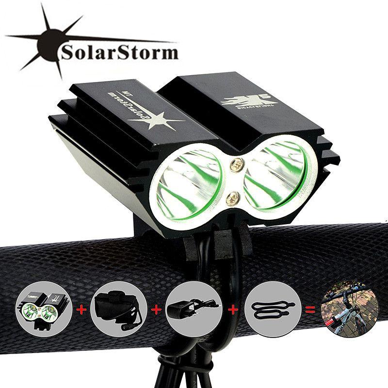 SolarStorm X2 Bike Light 5000Lm Waterproof XM-L U2 LED Bicycle Headlight Lamp Flash light & Rechargable Battery Pack + Charger