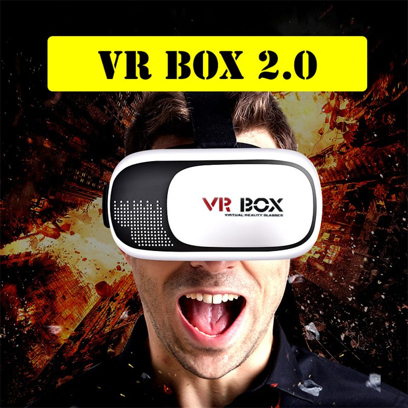 Newest VR BOX II 2.0 Version Virtual Video Movie Game Smartphone 3D Glasses Headset Bluetooth Remote Joystick Gift for Children