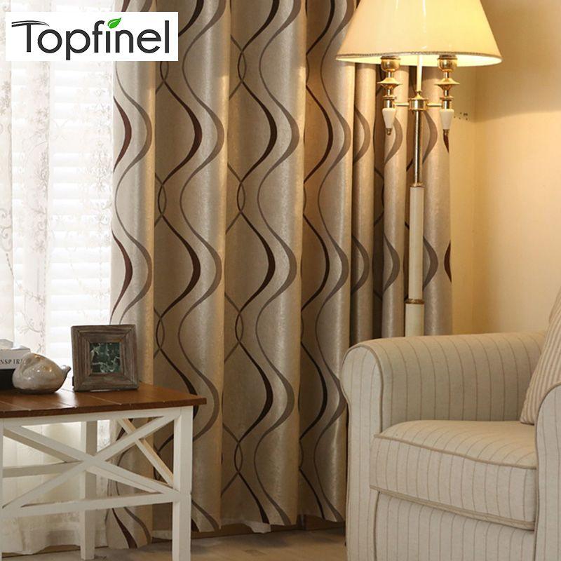 Topfinel épais luxe ondulé rayé rideaux de cuisine pour salon chambre rideaux décoration moderne rideaux occultants