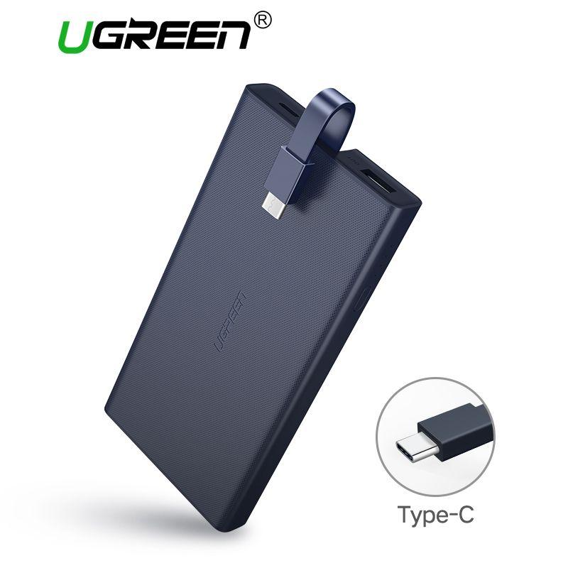 Ugreen 10000 mAh Tipo-c QC Apoyo 3.0 2.0 Portable External Banco de la Energía PowerBank Batería para Huawei FCP Móvil Banco de Potencia móviles