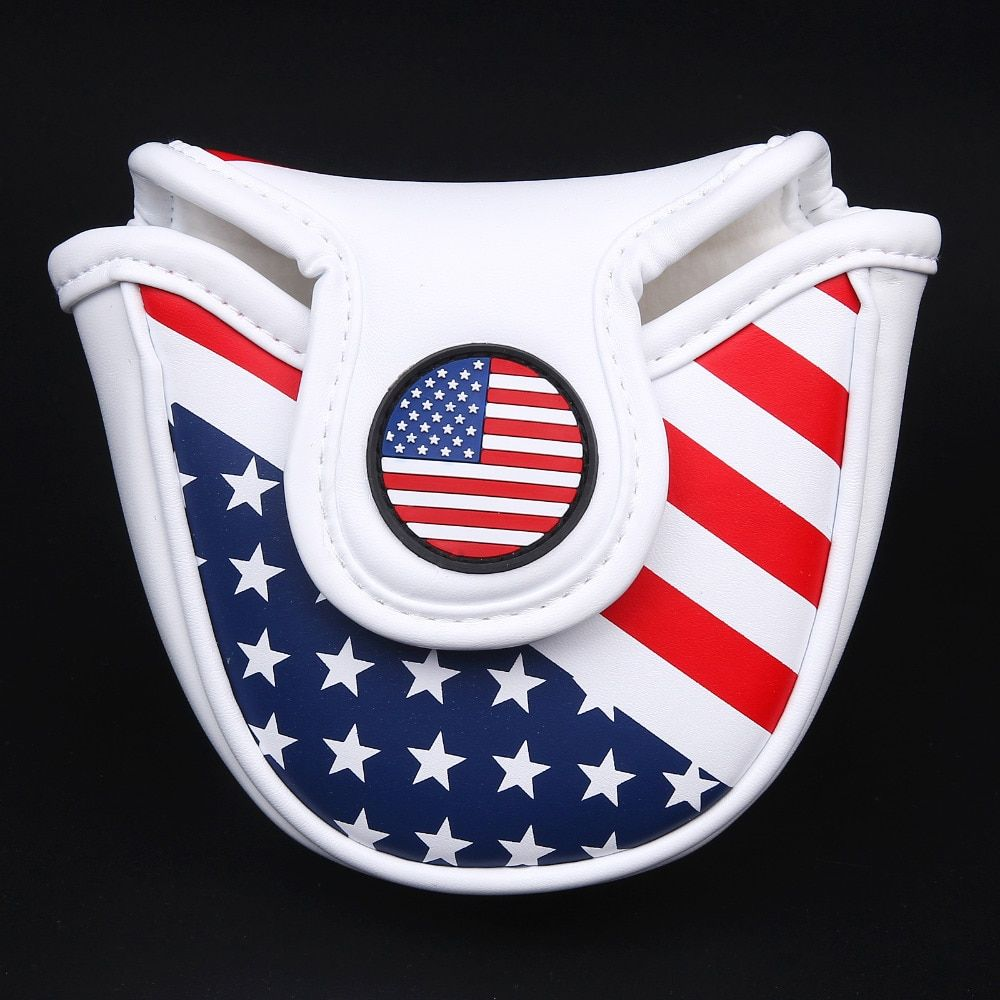 Siranlive Golf Mallet Head Cover Putter Cover with Magnetic Closure Golf Headcover USA Flag Free Shipping
