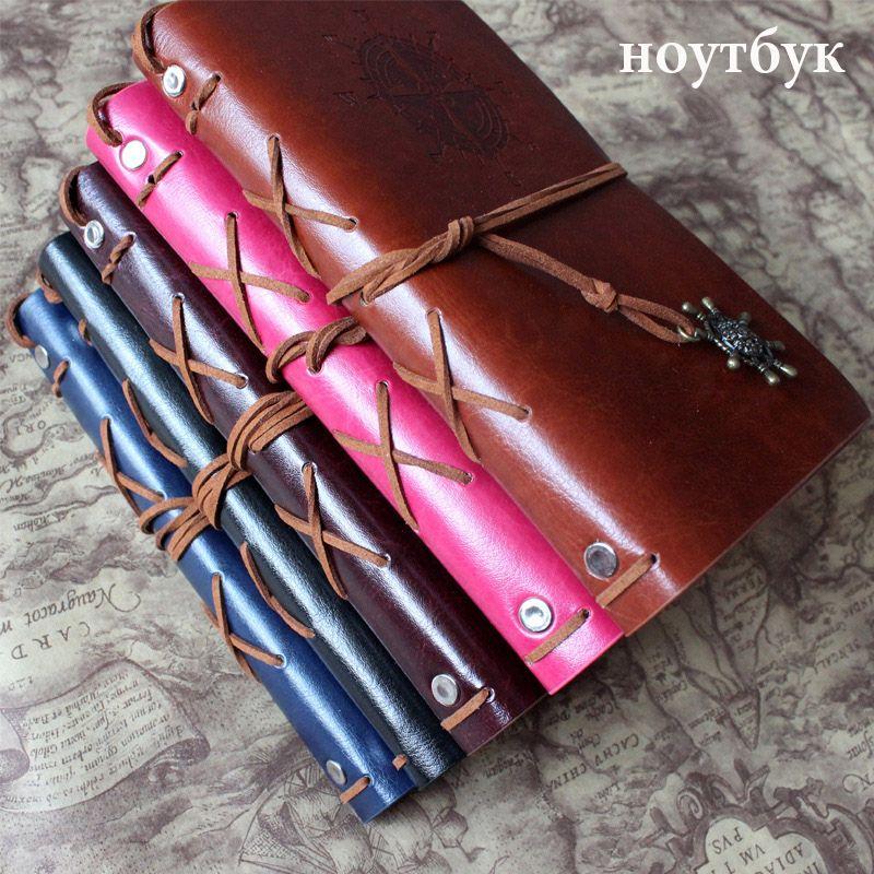 Journal portable bureau papeterie fournitures scolaires rétro voyage journal créatif couverture en cuir A7 A6 A5 anneau liant papier Kraft