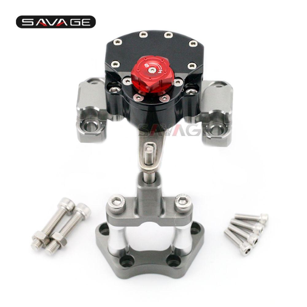 Umgekehrt Sicherheit Lenkungsdämpfer Für KTM 990 SMT 2009-2013 10 11 12 Motorrad Einstellbare Stabilisator mit Halterung