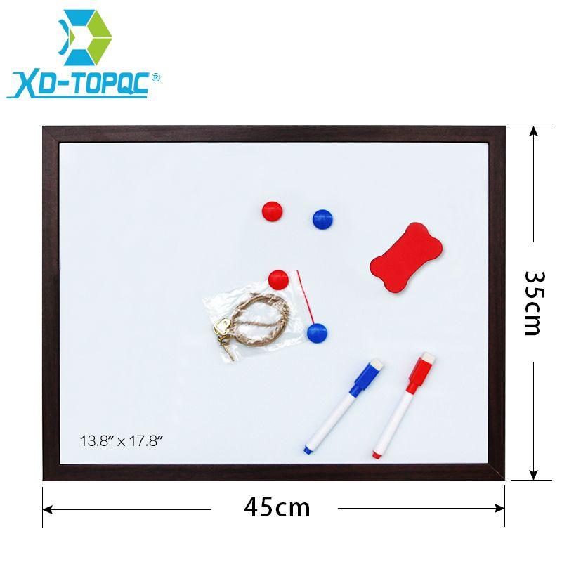 XINDI 35*45 cm 10 couleurs tableau blanc MDF cadre blanc nouveau tableau d'écriture magnétique Message effaçable à sec avec livraison gratuite WB24