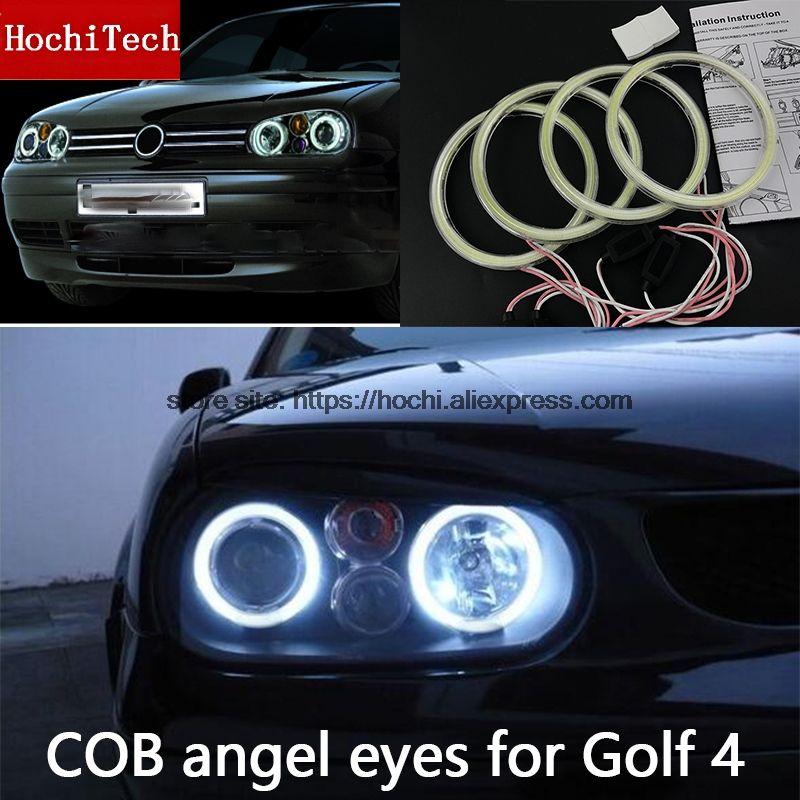 High Quality COB Led Light White Halo Led Angel Eyes Ring Error Free For Volkswagen VW Golf 4 golf4 MK4 R32 GTi VR6 1998-2004