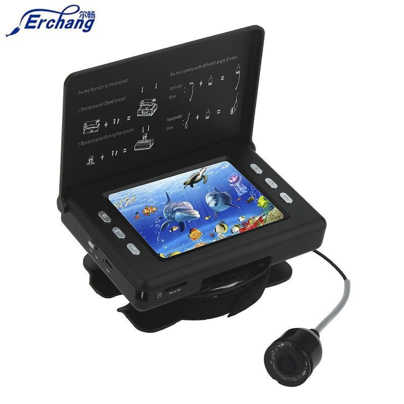 Erchang F7 Infrared LED 320*240 LCD Video Fish Finder 3000mAh Battery 15m Waterproof Fishing Camera On Rod DVR Fishfinder