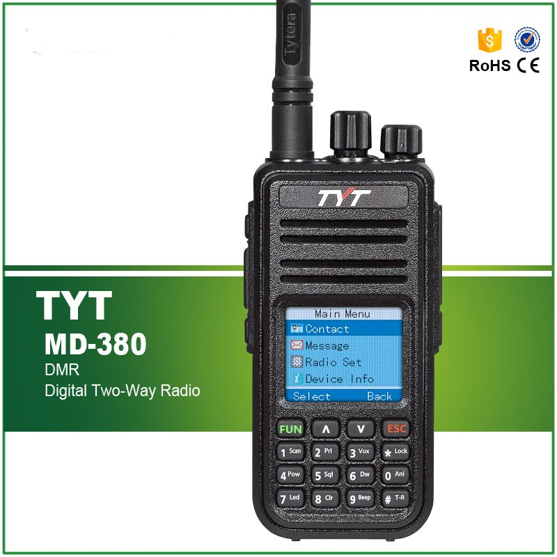 Newest Version Authorized Original TYT Digital Radio MD-380 with VHF +Programming Cable and CD