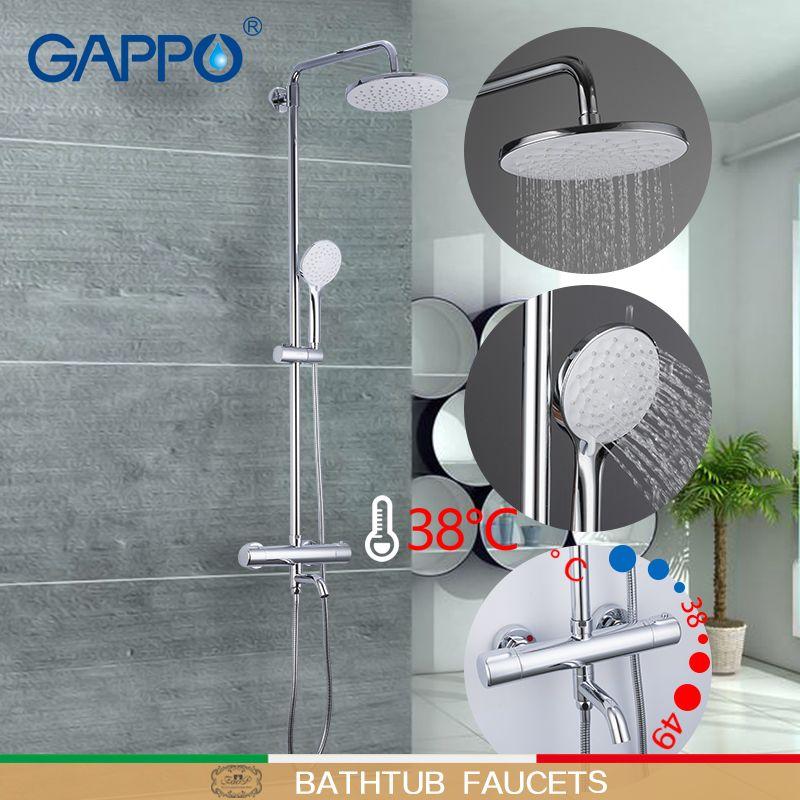 GAPPO Dusche armaturen thermostat dusche wasserhahn bad wasserhahn mischer niederschläge dusche set thermostat wasserhahn wasserfall mischbatterie