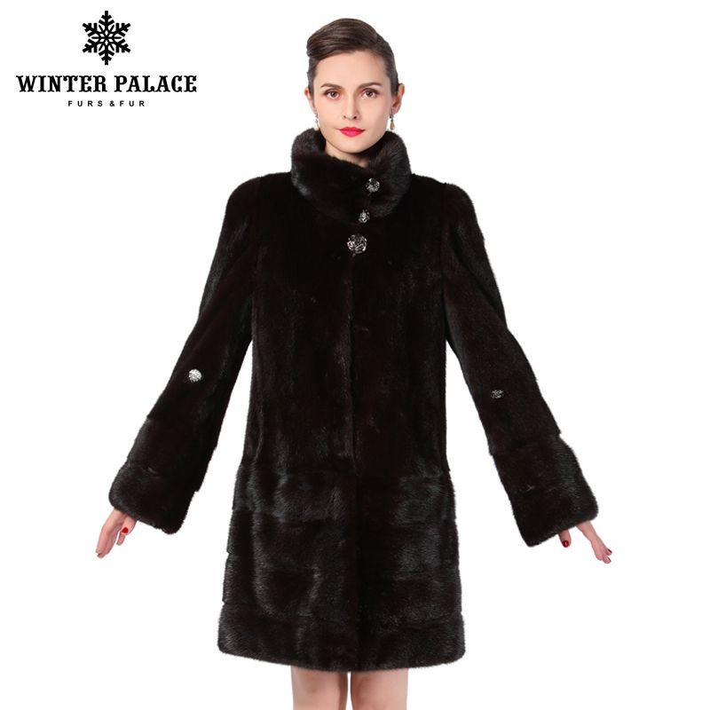New style fashion fur coat,Genuine Leather,Mandarin Collar,good quality mlnk fur coat, women natural black coats