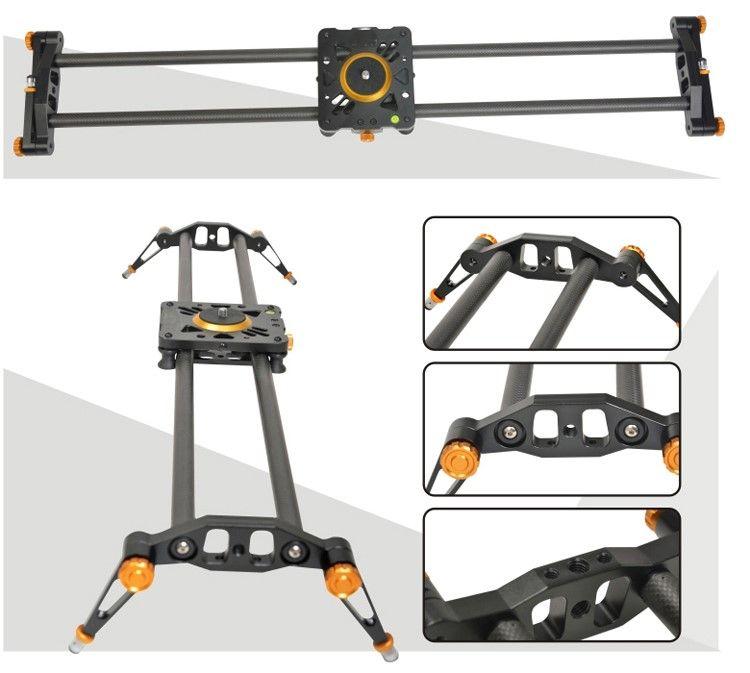 Ashanks 80 cm 6 Lager Kohlefaser Slider DSLR Kamera DV Track rutsche & Video Stabilizer Gleis Schieber Für DSLR Camcorder