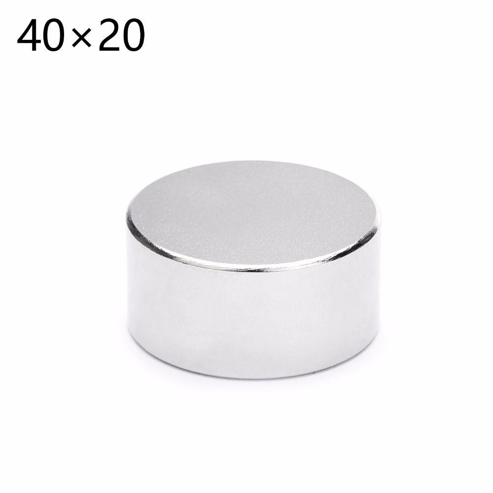 2 pièces offre spéciale 40x20mm rond puissant néodyme aimant Permanent N35 magnétique 40*20mm