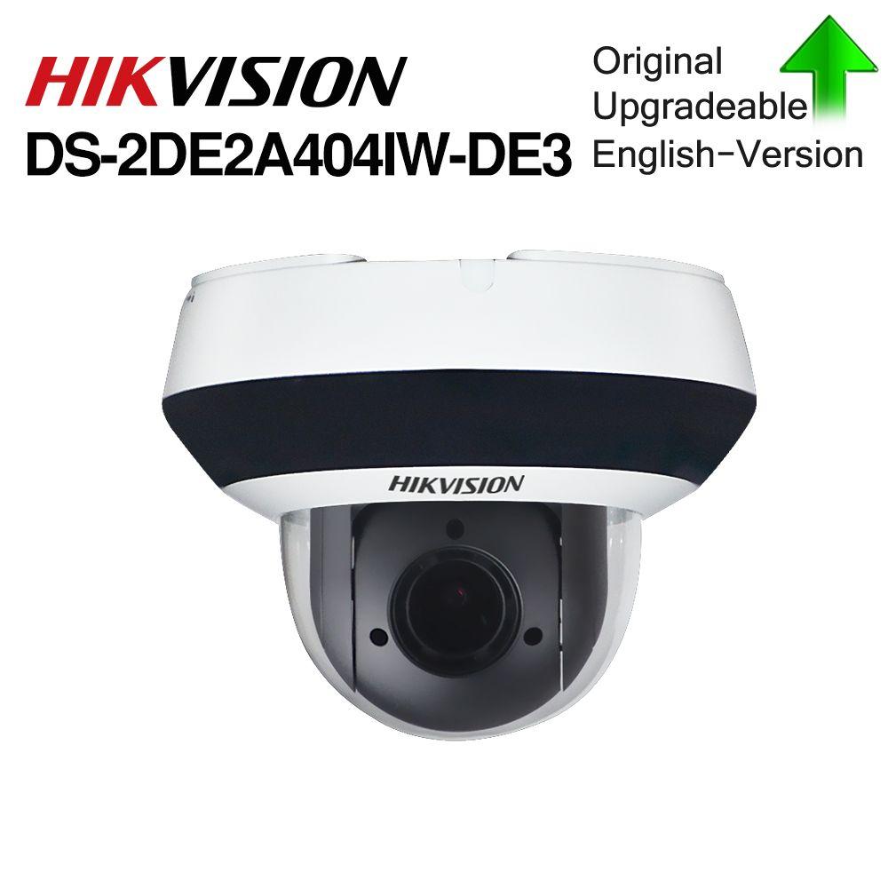 Hikvision Original PTZ IP Kamera DS-2DE2A404IW-DE3 4MP 4X 2,8-12 MM zoom Netzwerk POE H.265 IK10 ROI WDR DNR dome CCTV PTZ Kamera