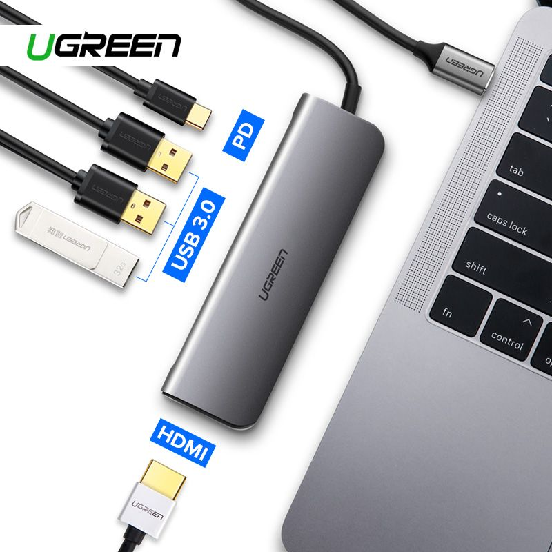 Ugreen Thunderbolt 3 Dock USB-C to HDMI HUB Adapter for MacBook Pro Samsung Dex Station Galaxy S10/S9/S8 USB Type C Converter
