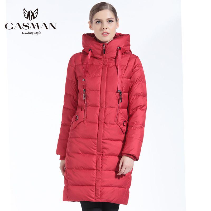 GASMAN Neue Winter Sammlung 2018 Unten Jacken Und Mäntel Lange Slim Für Frauen Casual Mäntel frauen Parka Kleidung Winter