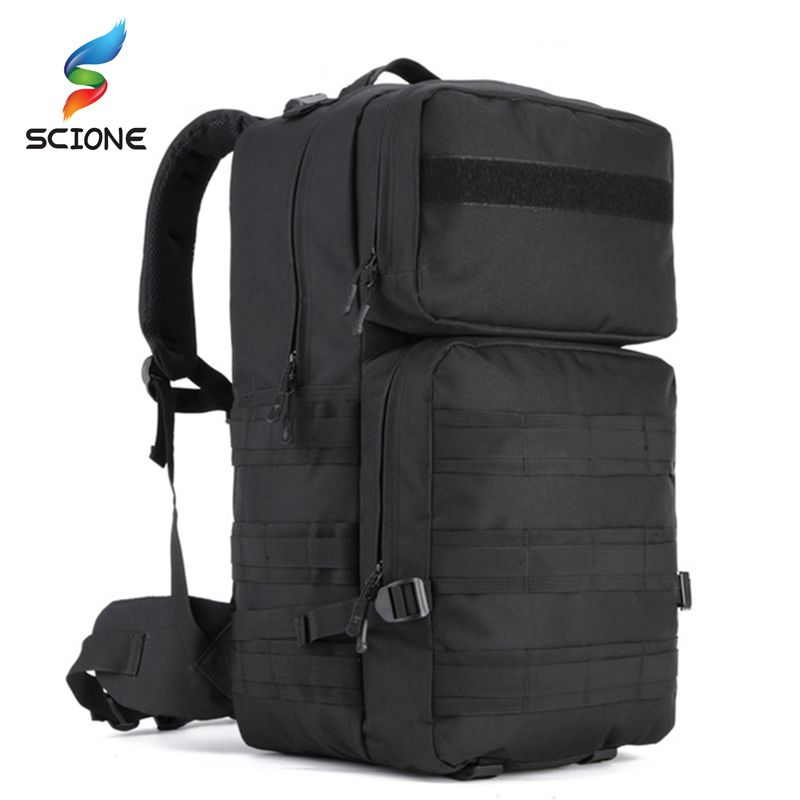 New Style 55L Waterproof Outdoor Travel Tactical Backpack High Quality Military Backpacks Unisex Camping Mountaineering Bag