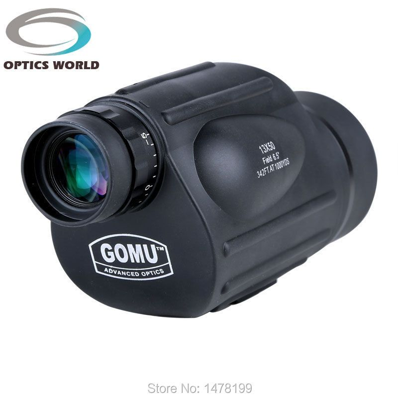 GOMU 13X50 monocular high quality HD 114M / 1000M FOV outdoor telescope birdwatching fishing and hunting waterproof eyepiece