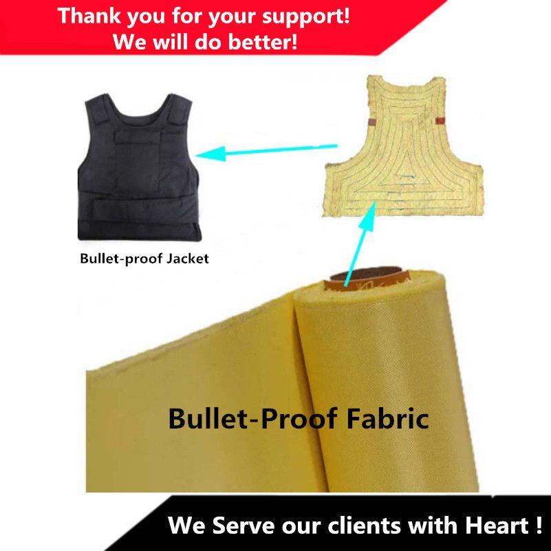 Tissu à armure toile 240g en Fiber d'aramide pour gilet pare-balles veste pare-balles kevlar 1414