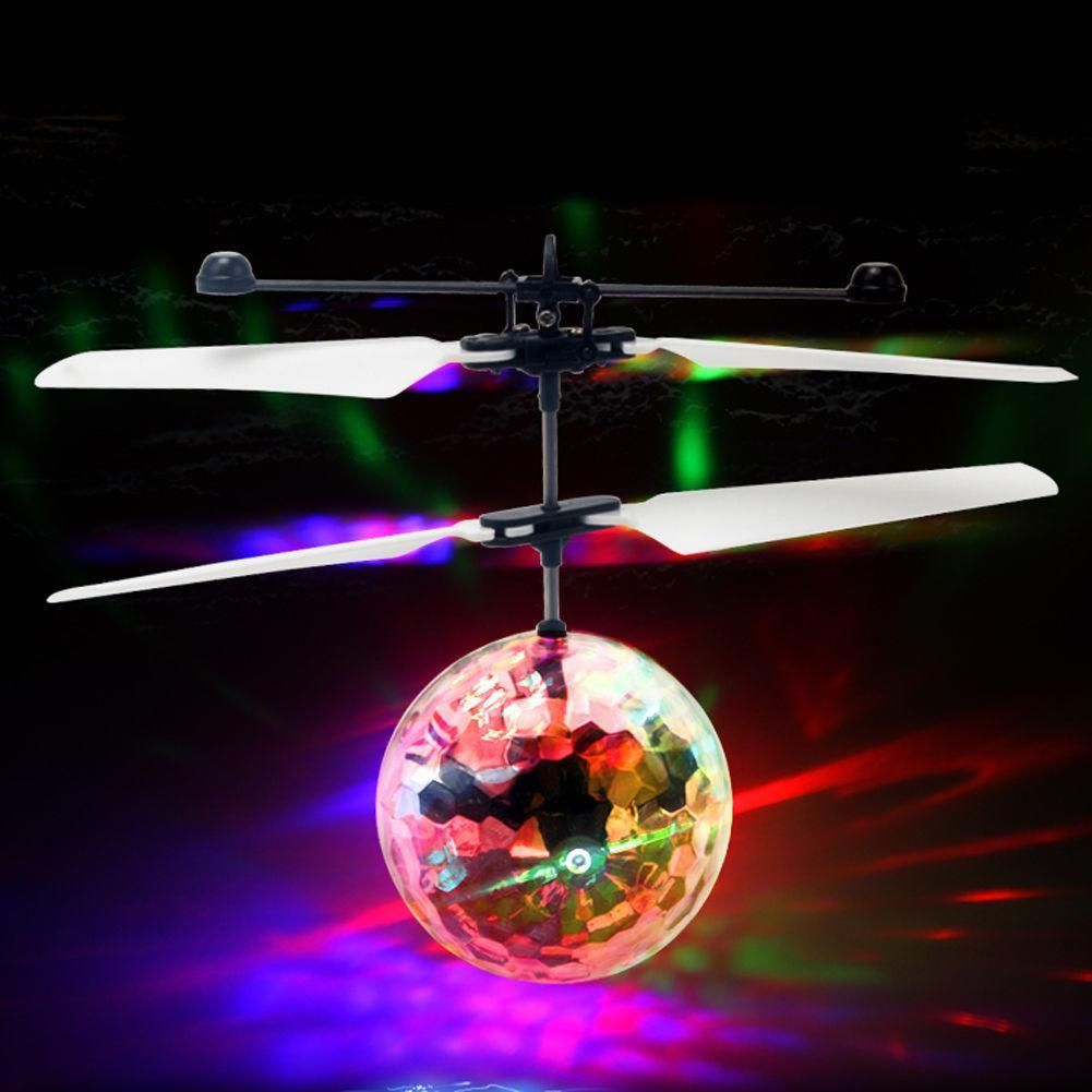 Flying Luminous Balls Toys Kid's Flying Ball Mini LED Drone Helicopter Infrared Induction Aircraft Remote Control Gifts