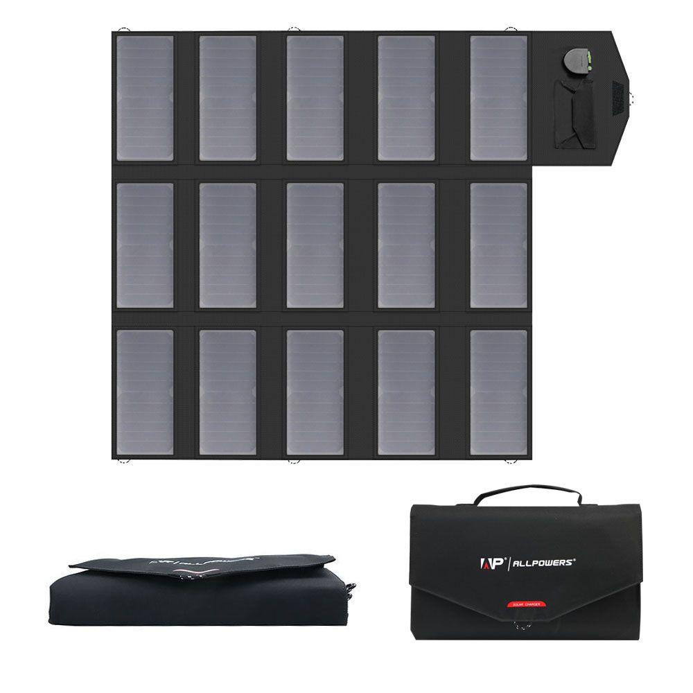 ALLPOWERS Tragbare Solar Panel Ladegerät 100 W 18 V 12 v Faltbare Solar Panel Solar Batterie Ladegerät für iPhone Laptop handys
