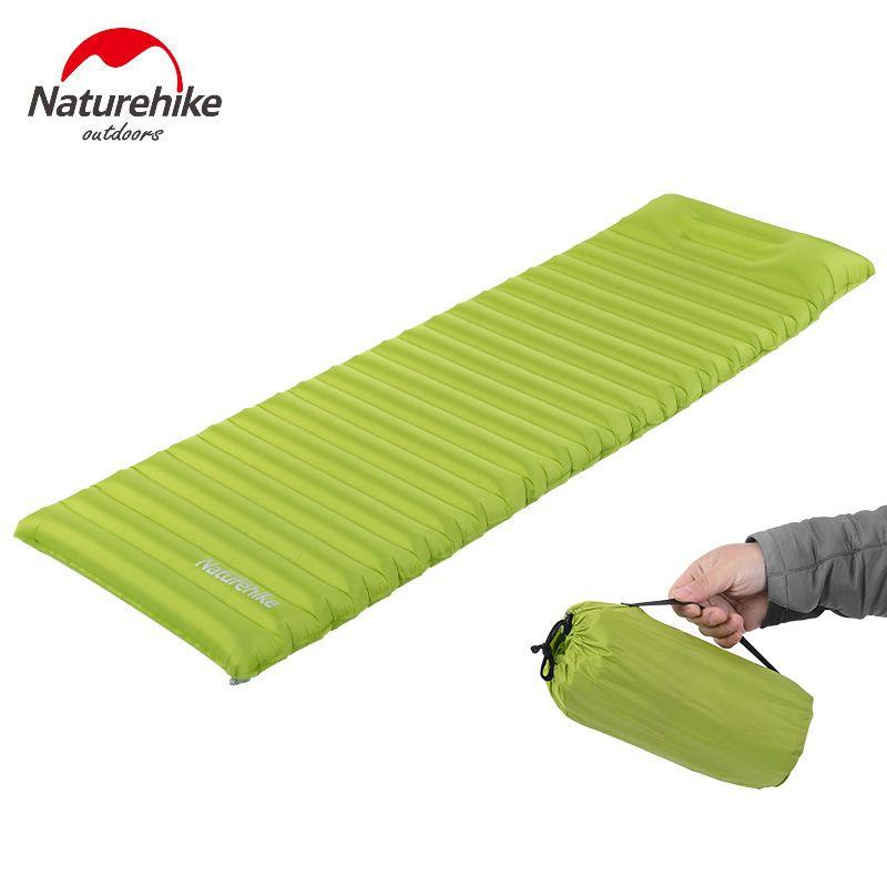 Naturehike Inflatable Camping Mat No Pump Outdoor Camp Tent Sleeping Pad Breathable Damp-proof Single Air Mat Mattress