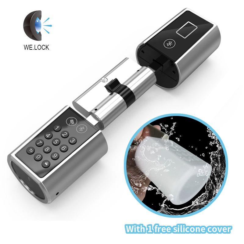 Smart Home App Electronic Door Lock, Bluetooth Keyless Digital Safe Lock Door Smart Card Keypad Password Pin Code Door Lock