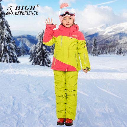 HOHE ERFAHRUNG Neue Stil mädchen, jungen Jacke + Hosen Winddicht Wasserdichte Outdoor Sport Tragen Camping Reiten Skifahren Snowboard