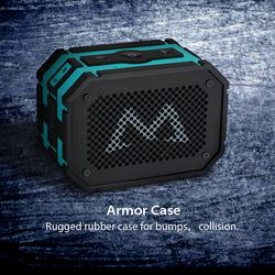 Mpow Armor Bluetooth 4.0 Speaker IP65 Waterproof Mini Portable Speaker Soundbar w/ 5W Driver & Bass + Extral 1000mAh Power Bank