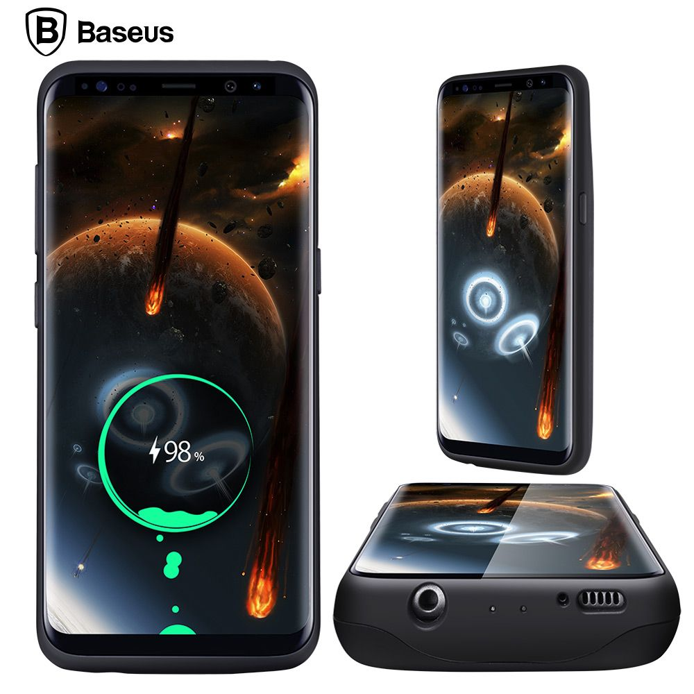 BASEUS Батарея Зарядное устройство чехол для Samsung Galaxy S8/S8 Plus 5000/5500 мАч Батарея чехол внешний рюкзак запасные Аккумуляторы для телефонов случае