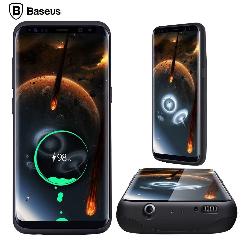 BASEUS Battery Charger <font><b>Case</b></font> For Samsung Galaxy S8 / S8 Plus 5000/5500mAh Battery <font><b>Case</b></font> Cover External Backpack Power Bank <font><b>Case</b></font>