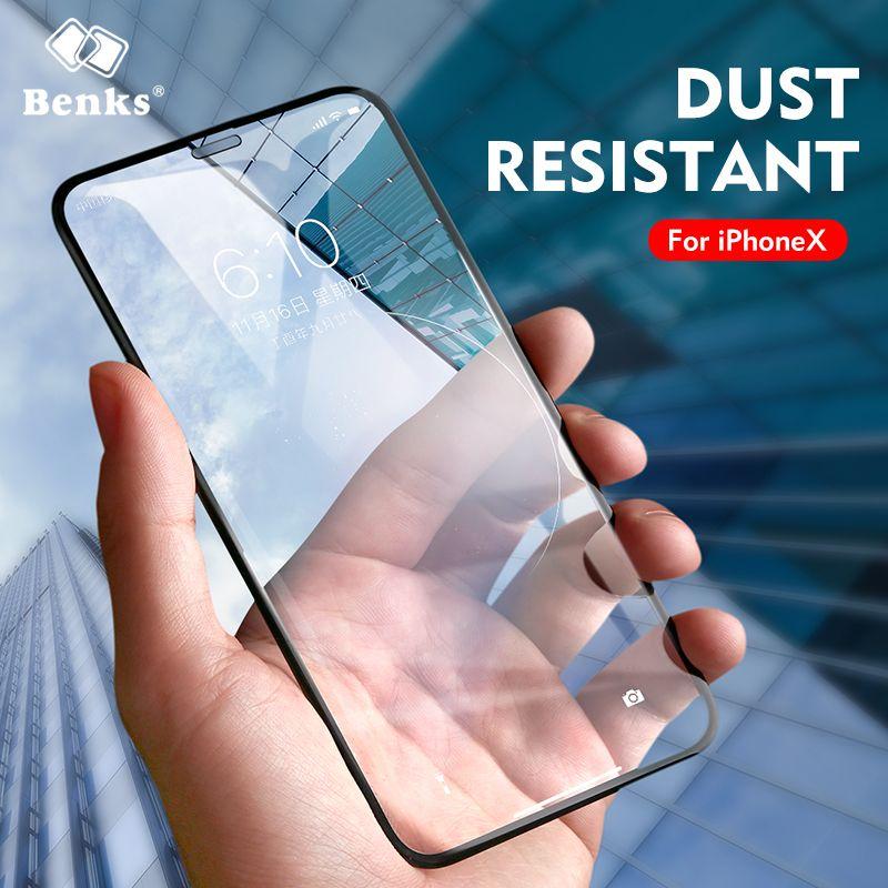 Benks Glas Für iPhone X 8 7 6 s Plus Gehärtetem Glas Displayschutzfolie 3D Full Cover Schützende Für iPhoneX 10 Telefon Vor abdeckung