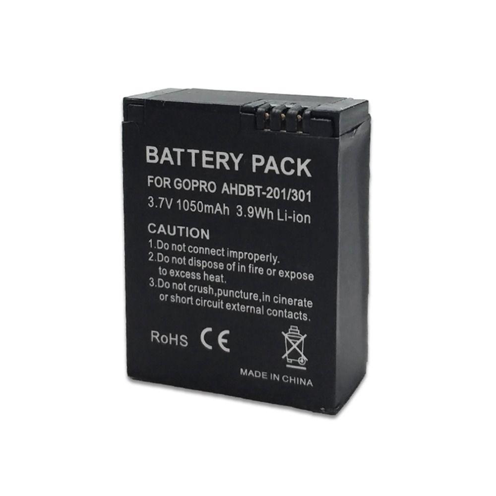 AUF LAGER! 1050 mAh AHDBT-301 Kamera Lithium-ionen-akku für Gopro HD Hero 3 3 + Plus