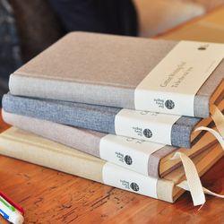 OUR-STORY-BEGINS Katun Kali Seri A5 Kosong Halaman Dalam Asli Notebook Hardcover Notepad 1 PCS