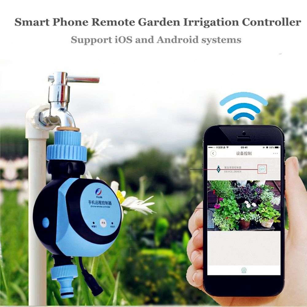 Phone Remote Water Timer Smart Electronic Garden Irrigation Controller Watering System Solenoid Valve Suitable for IOS/Android