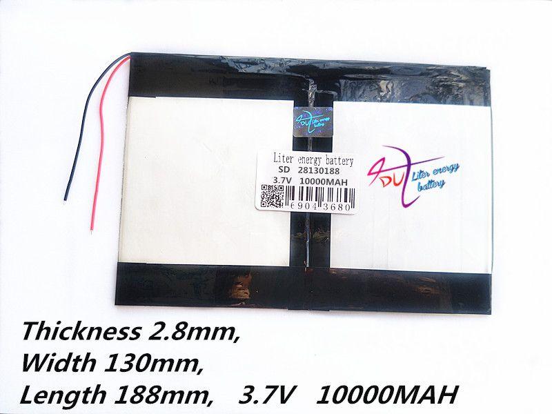 Tablette PC talk9x u65gt, batterie 28130188 3.7 V 10000 mah batterie li-ion batterie générale pour tablette ordinateur