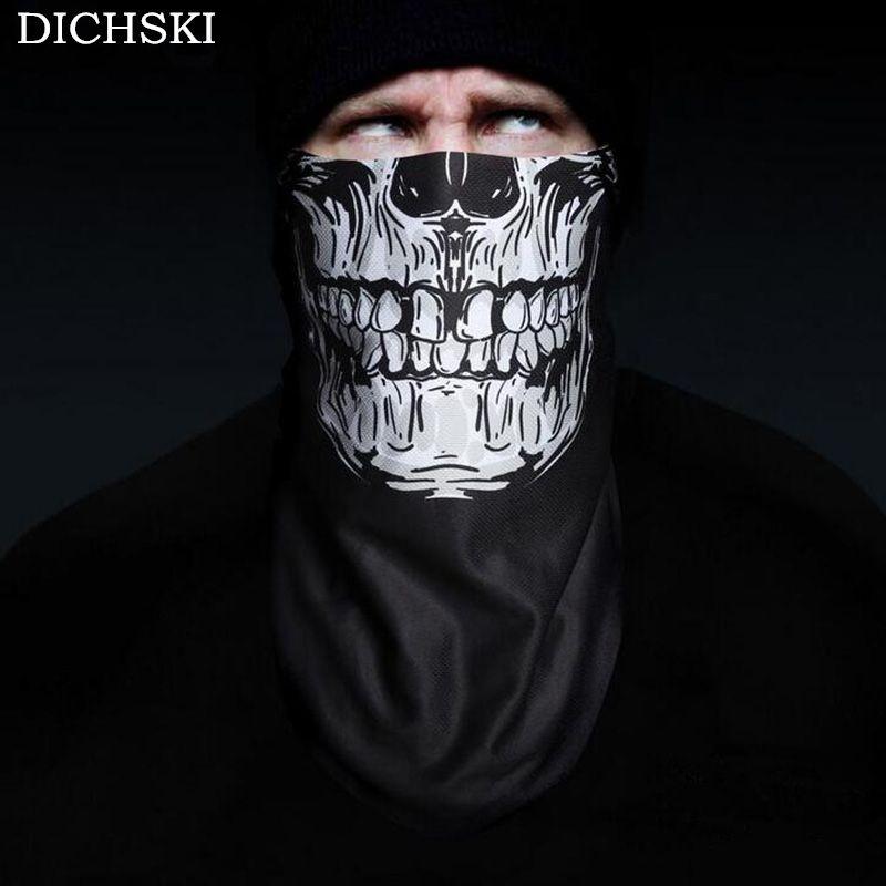DICHSKI 2017 3D Printing Ski Cycling Winter Warm Protection Fleece Face Mask Snowboard Hood Balaclavas Scarf Cycling Equipment