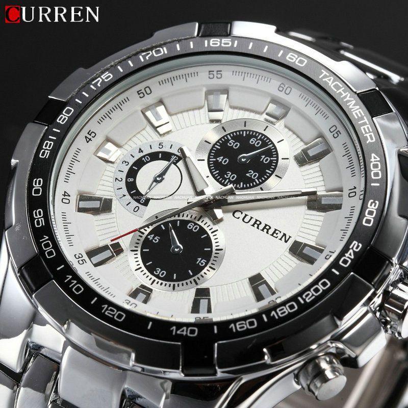 2017 New Curren Luxury Brand Watches Men Quartz Fashion Casual Male Sports Watch Full Steel Military Watches Relogio Masculino