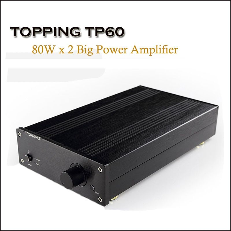 TOPPING TP60 Home Class T Power Amplifier Audio Amp TA2002 Hi Fi Amplifiers 80W Professional Amplificador