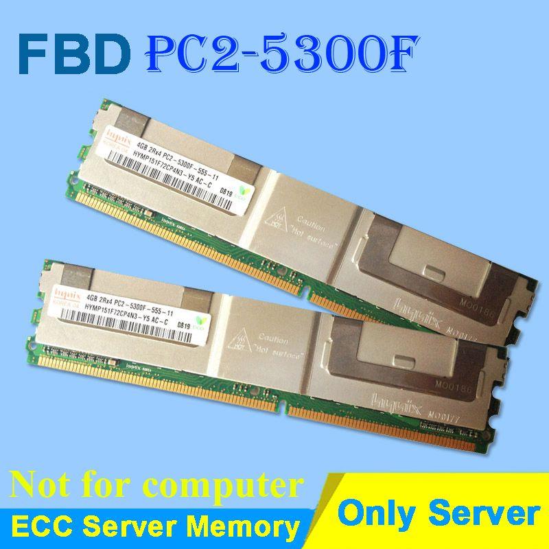 Mémoire De serveur Pour Hynix HP DDR2 4 GB 8 GB DDR 2 667 MHz PC2-5300 2Rx4 4Rx4 ECC FBD PC2-5300F FB-DIMM RAM Entièrement-Buffered DIMM DDR2