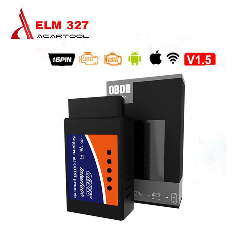 OBD2 ELM327 V2.1/V1.5 Bluetooth/Wifi Scanner de Diagnostic automatique Elm 327 Obd2 Scanner voiture outil de Diagnostic sans fil pour Android/IOS