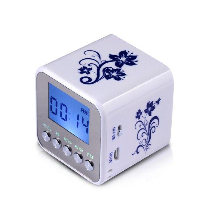 Nouveau Nizhi TT032 Mini Portable numérique FM radio portable radios support SD carte haut-parleur USB MP3 Joueurs avec horloge RADT032