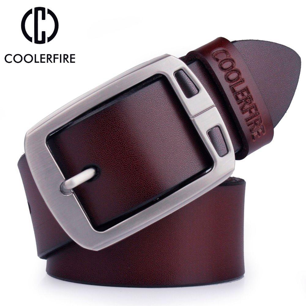 100% cowhide genuine leather belts for men cowboy Luxury strap brand male vintage fancy jeans designer belt men high quality